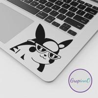 Decal Sticker Macbook Apple Pikachu Cool Pokemon Anime Stiker Laptop
