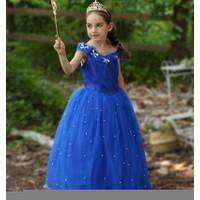 Cinderella Disney Princess Kostum Impor Dress Baju Pesta Ulang Tahun A