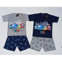 Setelan Baju Anak Laki Laki Karakter TAYO Usia 5-8 Tahun