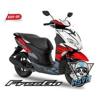Sticker Motor Freego - Red Grey RSVH 001