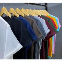 kaos distro polos t shirt pria wanita cotton combed 30s asli lembut