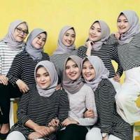 kaos stripe wanita / baju salur cewek