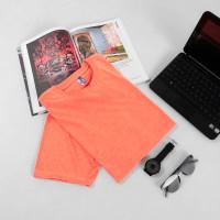 Kaos Polos Twotone Misty 30s Lengan Pendek Pria Wanita - Orange Misty, M