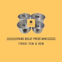loyang bulat press tanpa sambungan /loyangkue/pcs - 10cm tinggi 4cm