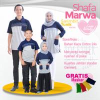 Sarimbit Shafamarwa 40 - Navy | Kaos Couple | Baju Keluarga