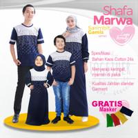 Baju Couple Keluarga|Kaos Sarimbit Family Set|Shafamarwa 52 Navy