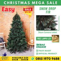 Pohon Natal 2,1 Meter 2 7Ft Snow Drop Fir Christmas Tree BONUS LAMPU