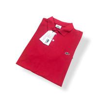 POLO SHIRT PRIA BAJU KAOS POLOS / Kaos Polo Shirt Pria Lacoste - Merah cabe, M