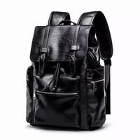 Legums - tas ransel pu leather backpack - ada usb di dalamnya - 8007