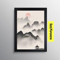 Wall Decor Art Japanese Style Poster Hiasan Dinding Jepang