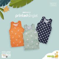 Singlet Print VELVET JUNIOR Kaos Oblong Baju Atasan Harian Bayi Anak