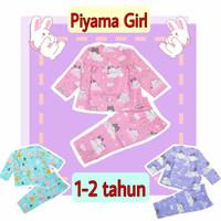 Baju tidur anak perempuan / Piyama Anak Katun Catra 1-2 Tahun