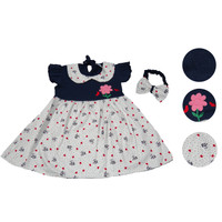Baju Anak Fashion Perempuan BUNGA - NAVY