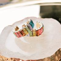 Aurore earrings/anting wanita/anting crystal/anting hoop/anting pesta