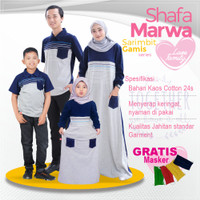 Baju Couple Keluarga|Kaos Sarimbit Family Set|Shafamarwa 40 Navy