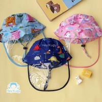 Topi Face Shield Bayi 6 bulan - 2,5 tahun Motif Lucu / Baby Bucket Hat