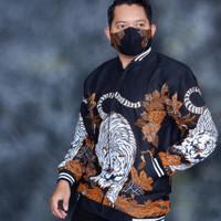 Jaket pria macan by Batik alfatih