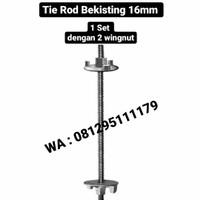 Tie Rod bekisting set (1 batang tie rod + 2 wingnut)