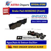 Kampas Rem Depan Akebono Agya/Ayla (1.000 Matic & 1.200),Datsun Go/Go+