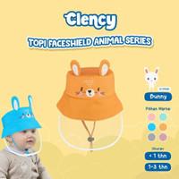 Topi Faceshield Anak Bayi Animal Lucu Newborn & 1 - 3 Tahun