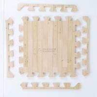 Evamat Matras Puzzle Anak Motif Kayu PREMIUM 30cmx30cm Playmat Wooden