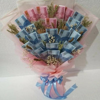 bouquet uang asli