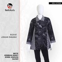 Batik Keris Blus Lengan Panjang Kembang Boket Kombinasi Kawung Sajiwo