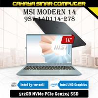 MSI MODERN 14 B10MW [9S7-14D1124-278] i3-10110U 8GB 512GB 14 FHD W10