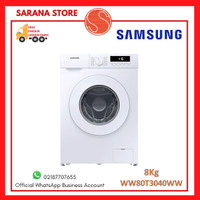 SAMSUNG WW80T3040WW Mesin Cuci Front Loading 8 Kg Quick Wash