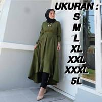 Atasan Wanita Muslim | Nada Tunik | Big | Size S M L XL XXL XXXL 5L