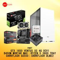PAKET MSI GTX 1650 VENTUS XS 4G OCV1 & B450M & R5 3600 TRAY &PSU &CASE
