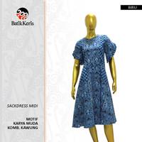 Batik Keris Sackdress Midi Karya Muda Komb Kawung
