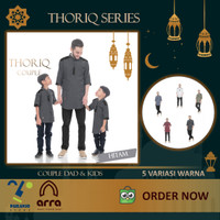Baju Koko Lengan Pendek 3/4 THORIQ Kurta Pakistan Couple Ayah & Anak