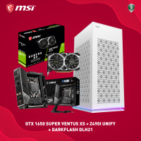 PAKET MSI GTX1650 SUPER VENTUS XS + Z490I UNIFY + DLH21 WHITE