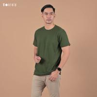 Kaos Polos Worth ID Green Army / Kaos Polos Cowo - Cewe