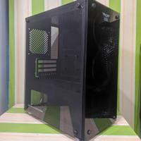 Casing PC Armageddon Infineon 1000 Case Komputer Tempered Glass Fan 3