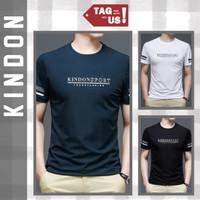 Kaos Pria Lengan Pendek Motif Kindon Spandex Murah Promo (TagUs) - Navy