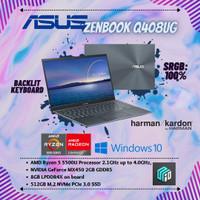 Asus Zenbook Q408UG MX450 2GB Ryzen 5 5500U 8GB RAM 512GB SSD Win10