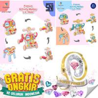 MASTELA ACTIVITY PUSH WALKER MUSIC & TABLE 5in1 BABY WALKER - Pink, PackingStandard