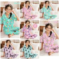 Baju Tidur Piyama Anak Perempuan 3-10 tahun/ Motip Terbaru BTS 21