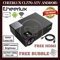 CHEERLUX CL770 Android TV TUNER Projector 1080P Full HD 4000 Lumens - CL770 ATV