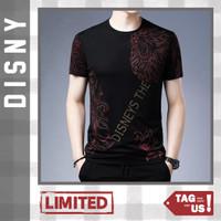 Kaos Pria Lengan Pendek Motif Disny Spandex Murah Promo (TagUs) - Hitam Merah