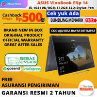 Laptop ASUS VivoBook Flip 14 TP412FA intel i5 10210U 8GB 512GB OHS W10 - Non Bundle