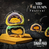 Moon Cake Telur Asin Halal / Kue Pia Bulan Sinar Pagi