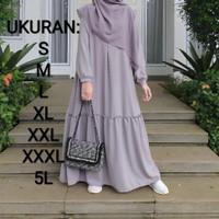 Baju Gamis Wanita Syari Muslim Jumbo Polos Murah Busui Modern Terbaru