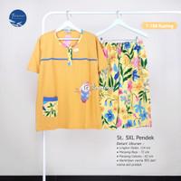 FOREVER SWEET Baju Tidur 5XL Pendek Babydoll Set Piyama Jumbo Wanita