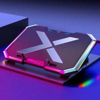 Cooling Fan Pad Gaming Kipas Pendingin Laptop With LED RGB 6 Fan - Q8
