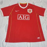 Jersey Baju Bola MU Man Utd Home Retro Jadul Lawas AIG Merah 2006 2007
