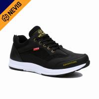 Sepatu Casual Pria Original Nevis Nvs 05 Sneakers Outdoor Kerja Hitam