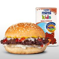 1 Smashed Beef Burger + 1 Susu Ultra 125 ml ( Kidsmeal B )